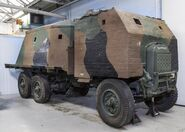 A 1940s Thornycroft Bison Army concrete-armoured-lorry