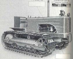 Hanomag K 90 crawler b&w brochure - 1955