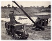 A 1950s Priestman Brothers Panther Dragline