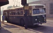Chicago St Louis Car-built trolley bus 9400 in 1968