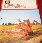 Cockshutt 535 combine brochure