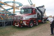 Palfinger crane on bonneted Scania 8x4 at GDSF 08 - IMG 1033