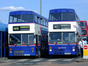 Two West Midlands Travel MCW Metrobuses