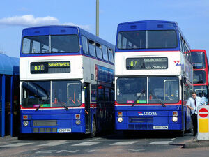 Two West Midlands Travel MCW Metrobuses