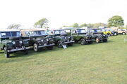 Land Rover S1 lineup at AngleseyIMG 2486