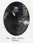 Mr John Allen Of Oxford engineer and founder