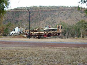 Road Train unloading