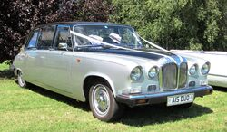 Daimler DS420 favours marriage first registered March 1991 4235 cc UK tax office says it is black
