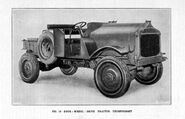 A 1920s Thornycroft Four Wheel Drive Tractor
