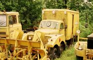 A 1960s AWD Commer Municipal Snowblower 6X6