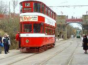 Old fashioned tram 700