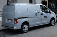 2014 Nissan NV200 SV van, rear right