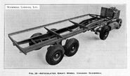 A 1920s Scammell Articulated Eightwheeler Chassis