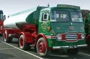 A 1960s Rowe Hillmaster Haultractor with tankertrailer