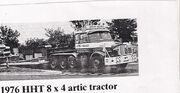 A 1976 HHT Scammell Turbodiesel V8 Roadtractor