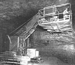 A 1950s Taylor-mining-jumbo platform