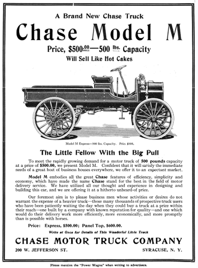 Chase Motor Truck Company | Tractor & Construction Plant Wiki | FANDOM powered by Wikia