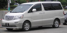 Toyota Alphard (first generation) (front, white), Serdang