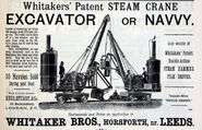 A 1889 Whitaker Brothers Navvy Steam Excavators