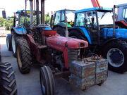 MF 65 with forklift at Lanark auction mart - DSC00418