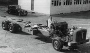 A 1950s Rotinoff Viscount Lorry GR37 being built at the factory