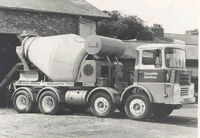 A 1960s GUY Big J8 Cement Mixer