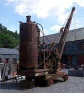 A 1930s Smith Of Rodley Steam Railcrane awaiting restoration