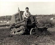 A 1950s Aveling Barford Calfdozer Diesel