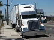 FREIGHTLINER TRUCK AUGUST 29 2007 LOS ANGELES PATRICE RAUNET HOLLYWOOD