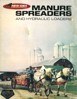 New Idea (AVCO) manure spreader (horse-drawn) brochure