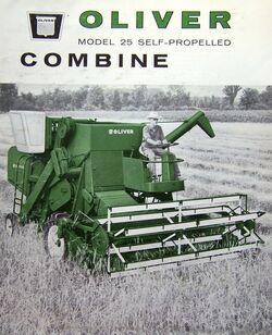 Oliver 25 combine brochure - 1961