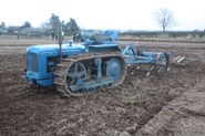 Roadless J17 crawler no 6769 with Ransomes C65B cultivator at Bernard Saunders WD 09 - IMG 4063