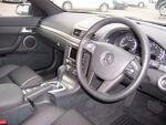 Black automobile interior