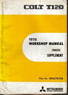 15- Mitsubishi T120 COLT - 1978 Workshop Manual - Chassis Supplement