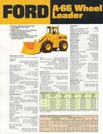 Ford A-66 wheel loader brochure - 1975