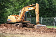 Samsung SE130 excavator at Much Marcle - IMG 1596