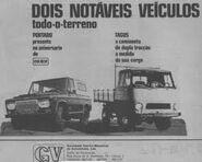 Modelos da GV-SEMAL PORTARO 240 4X4 +TAGUS TV 4X4