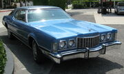 1973 Ford Thunderbird blue front