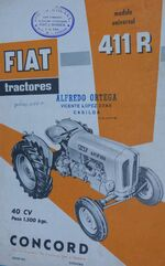 Fiat Concord 411R b&w brochure