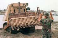 Armoured bulldozer front