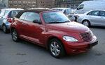 Red PT cruiser cabrio fr