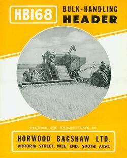 HB HB168 pull-type combine brochure