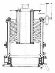 Straker boiler, section (Rankin Kennedy, Modern Engines, Vol III)
