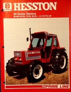 Hesston 80-90 DT brochure - 1985