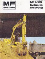 MF 450S excavator brochure