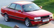 Red Audi 90 Quattro fr