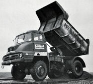 A 1960s AWD Ford Trader 4X4 Dumptruck