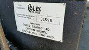 An Original COLES CRANES LIMITED Logoname