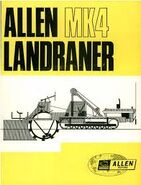 A 1970s ALLEN-FORDSON Landrainer Trencher MK4
