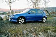 Trophy Blue MG ZR 160 ej orginalfälgar